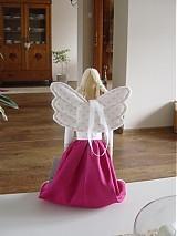Bábiky - Anjelka v cyklámenovej sukničke - 1840869