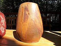 Dekorácie - váza hnedá, okrová