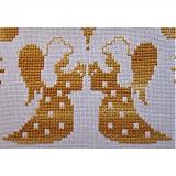 Úžitkový textil - Malý obrus s anjelikmi a hviezdami - 1844740