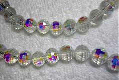 - Korálky skl.10mm-krystal AB-1ks - 1848524