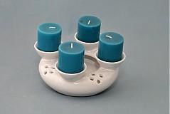 Svietidlá a sviečky - Adventní svícen 2v1 - bílý - 1854611