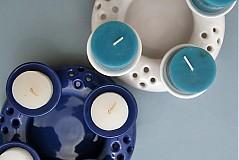 Svietidlá a sviečky - Adventní svícen 2v1 - bílý - 1854613