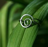 Prstene - Vlnkový v zelenom háve - 1857506