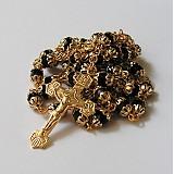 Iné šperky - Růženec romantic (černá,gold) - 1866974