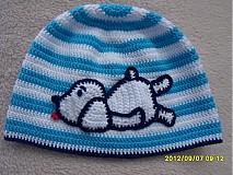 Detské čiapky - ciapka psik - 1870318