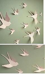 Dekorácie - 3D vtáčiky - 1871581