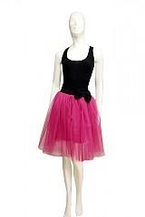 - Ružová tylová suknička - spodnička - 1871999