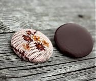 Materiál ručne robený - Buttony potiahnuté kožou 38 mm - 1879172