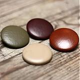 Materiál ručne robený - Buttony potiahnuté kožou 38 mm - 1879173