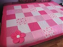Úžitkový textil - Patchworkova deka ,prehoz - 1879235