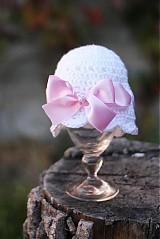 Detské čiapky - čiapočka s mašlou - 1879883