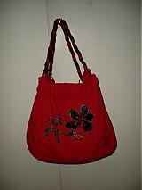 Veľké tašky - červena veľká... - 188465