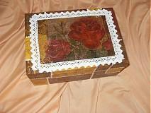 Krabičky - Elegantná drevená krabička - 1887871