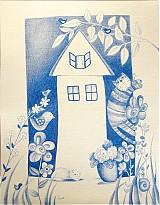 Kresby - Modrý domček - 1888798