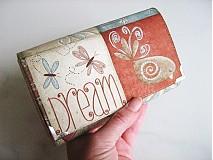 Peňaženky - Motýlí tanečky a ptačí snění -15 X 10,5 :-) - 1894790