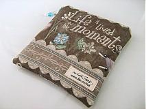 Taštičky - Život žijeme v momentech - Andělínčina kapsička - 1903493