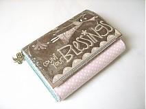Peňaženky - Andělínčina v barvách růže - zipová i na karty :-) - 1903507