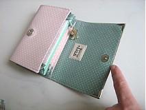 Peňaženky - Andělínčina v barvách růže - zipová i na karty :-) - 1903508