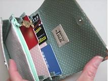 Peňaženky - Andělínčina v barvách růže - zipová i na karty :-) - 1903509