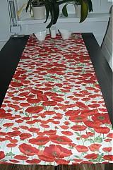 Úžitkový textil - Obrus - štóla vlčie maky 45 x 150 - 1906280