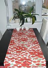 Úžitkový textil - Obrus - štóla vlčie maky 45 x 150 - 1906281
