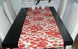 Úžitkový textil - Obrus - štóla vlčie maky 45 x 150 - 1906282
