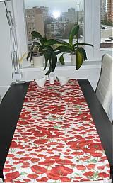 Úžitkový textil - Obrus - štóla vlčie maky 45 x 150 - 1906283