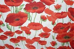 Úžitkový textil - Obrus - štóla vlčie maky 45 x 150 - 1906467