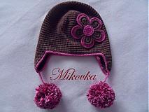 Detské čiapky - ciapocka kvetinka - 1912868