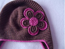 Detské čiapky - ciapocka kvetinka - 1912871