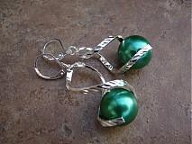 Náušnice - Točí sa mi točí (zelená akryl) - 1920457