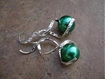 Náušnice - Točí sa mi točí (zelená akryl) - 1920458