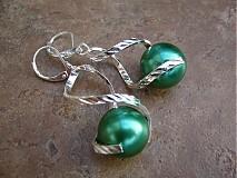 Náušnice - Točí sa mi točí (zelená akryl) - 1920459