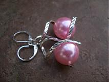 Náušnice - Točí sa mi točí (ružová akryl) - 1920463
