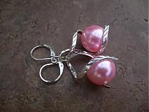 Náušnice - Točí sa mi točí (ružová akryl) - 1920467