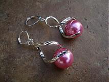 Náušnice - Točí sa mi točí (ružová akryl) - 1920633