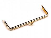 Galantéria - V zľave z 2,90€ - Rámček na kabelku 7x18cm Zlatý - 1927119