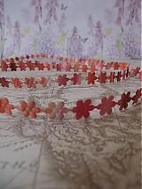 Galantéria - Aplikácia saténová kvet šírka 10mm, melírovaná - 05 - 1927756