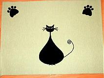 Úžitkový textil - Cica Mica obrus na maly stolček - 1932761