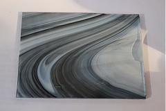 Sklo na spekanie trojfarebne čierno bielo priehľadné