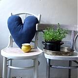 Úžitkový textil - Just blue - recy svetríkové srdiečko (na objednávku) - 1940402