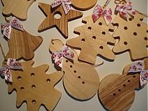 Dekorácie - Drevené vianočné ozdobky - do drevenice - - 1951415