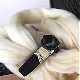Ozdoby do vlasov - PŘÍRODNÍ - dřevěná spona do vlasů - 1955804