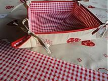 Úžitkový textil - Vianočný obrus s košikom - 1959926