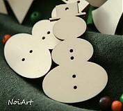 Vianočná ozdôbka jednoduchá - snehuliak