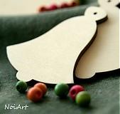 Vianočná ozdôbka jednoduchá - zvonček