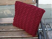 Úžitkový textil - pletené vankúše - 1976268