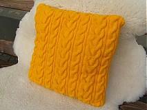 Úžitkový textil - pletené vankúše - 1976274