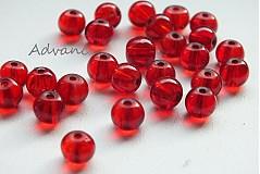Korálky - Korálka červená 10ks p0,6 f3166 - 1977837
