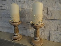 Svietidlá a sviečky - Svietnik zo sviečkou  - Vintage - - 1980651